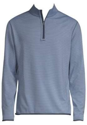 Peter Millar Men's Reversible Stripe Half-Zip Sweater