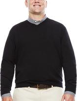 Izod Fieldhouse Long-Sleeve V-Neck Sweater - Big & Tall