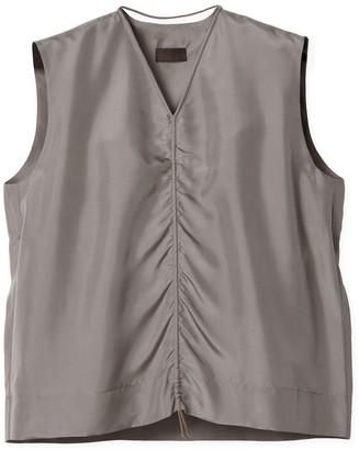 Oyuna Jasia Stone Grey Sleeveless Cotton Top
