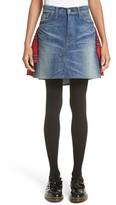 Junya Watanabe Women's Tartan Back Denim Miniskirt