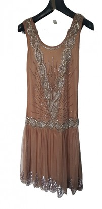Frock and Frill Gold Dress for Women