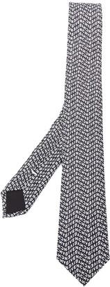 Givenchy Logo Printed Tie