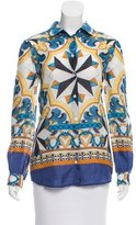 Philosophy di Alberta Ferretti Ornate Printed Silk Button-Up