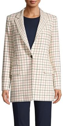 Rag & Bone Grid-Print Wool-Blend Blazer