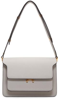 Marni Off-White Saffiano Medium Trunk Bag
