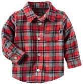 Osh Kosh Plaid Button-Front Shirt