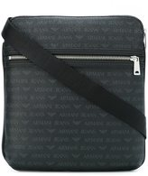 Armani Jeans double zipped shoulder bag