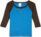 City Threads V-Stitch Raglan Tee (Baby) - Blue/Charcoal - 3-6 Months