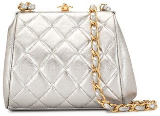 Chanel Pre Owned 1997 diamond quilted CC turn-lock crossbody bag