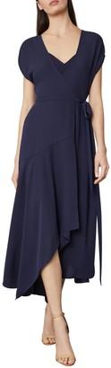 BCBGMAXAZRIA Crepe Satin Wrap Dress
