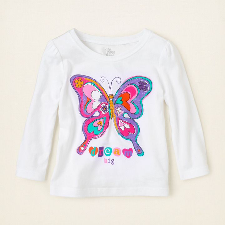 Children's Place Butterfly graphic tee