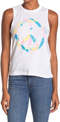 Chaser Peace Sign Graphic Muscle Tank Top