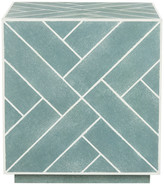 Safavieh Emil Faux Shagreen End Table, Blue