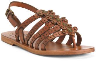 Premium Leather Strappy Flat Sandals