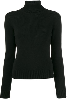 Saint Laurent cashmere ribbed turtle neck sweater