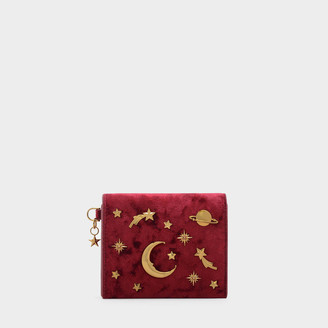 Charles & Keith Snap Button Galaxy Embellished Card Holder