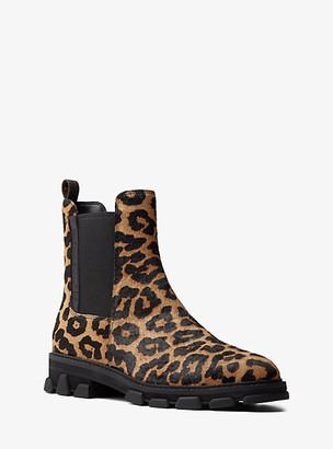 MICHAEL Michael Kors MK Ridley Leopard Print Calf Hair Boot - Natural - Michael Kors
