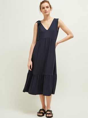 Great Plains Melrose Dress In Dark Navy - 10