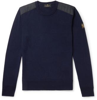 Belstaff Kerrigan Slim-Fit Quilted Shell-Trimmed Virgin Wool Sweater