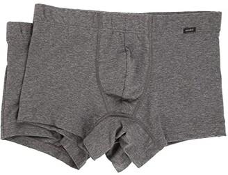 Hanro Cotton Essentials 2-Pack Boxer Brief (Black) Men's Underwear