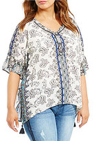 Democracy Plus Printed Paisley Blouse