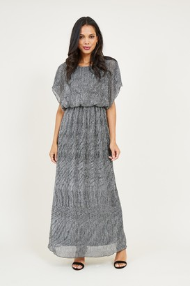Yumi Grey Shimmer Maxi Dress
