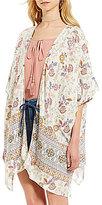 C & V Chelsea & Violet Floral Printed Kimono