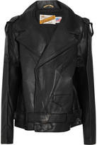 Vetements + Schott Perfecto Oversized Leather Biker Jacket - Black