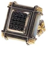 Konstantino Sterling Silver & 18K Gold Spinel Studded Square Ring - Size 7