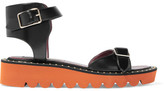 Stella McCartney Studded Faux Leather Sandals - Black