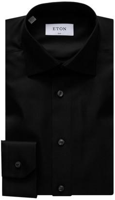 Eton Slim-Fit Diagonal Weave Dress Shirt