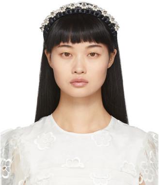 Simone Rocha Black Raffia Embellished Headband