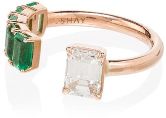 Shay 18kt Rose Gold Floating Diamond Ring