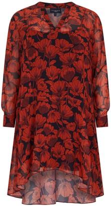 Evans **Live Unlimited Red Floral Dress