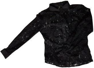 Ikks Black Lace Top for Women