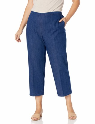 Alfred Dunner Women's Plus Size Proportioned Short Denim Pant 16W