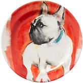 Anthropologie Sally Muir Dog-a-Day Dessert Plate, Dia.21.5cm, French Bulldog