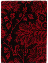 Alexander McQueen Red and Black Ivy Creeper Towel