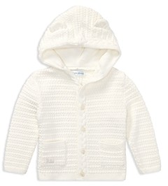 Ralph Lauren Unisex Hooded Cotton Cardigan with Bear Ears - Baby