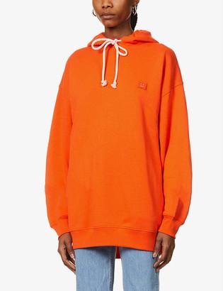 Acne Studios Farrin face-patch cotton-jersey hoody