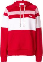 MSGM striped hoodie