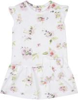 Petit Bateau Watercolour floral print cotton piqué dress 3-24 months