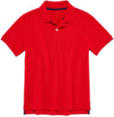 Arizona Short Sleeve Solid Cotton Polo Shirt - Big Kid