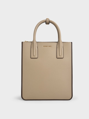 Charles & Keith Double Handle Tote Bag