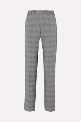 Vetements Houndstooth Wool-blend Slim-leg Pants - Gray