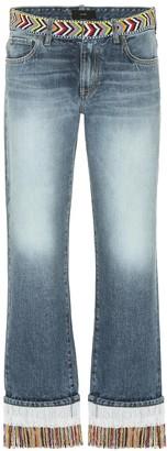Alanui Embellished mid-rise jeans