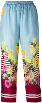 Blugirl floral print trousers - women - Silk - 38
