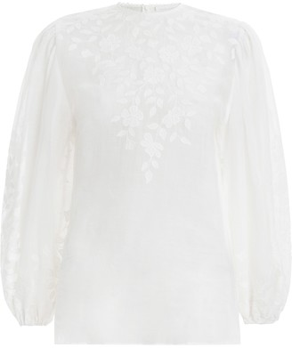Zimmermann Zinnia Applique Blouse