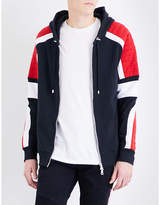 Balmain Ribbed Contrast-panel Cotton-jersey Hoody