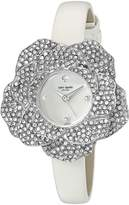 Kate Spade Women's 'Rose Shaped Case' Quartz Stainless Steel and Leather Casual Watch, Color: (Model: KSW1316)